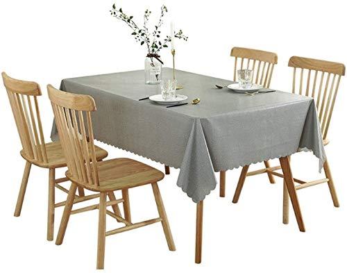 XQLSRJ Elegante y lujoso mantel gris, impermeable, antiquemaduras, a prueba de aceite, desechable, multicolor, tamaño (tamaño: 65 x 65 cm)