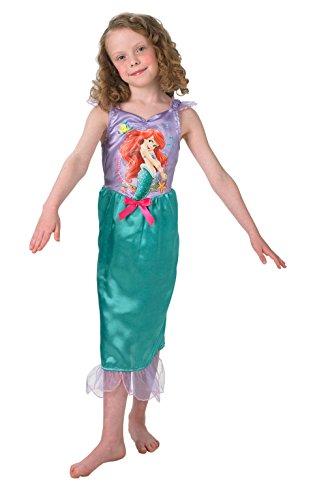Princesas Disney - Disfraz de Sirenita Ariel para niña, infantil 3-4 años (Rubie's 888787-S)