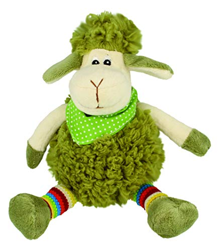 Shamrock Gift Co. Peluche Oveja Irlandesa   Oveja Decorativa Verde   Peluche de Cordero con Bufanda
