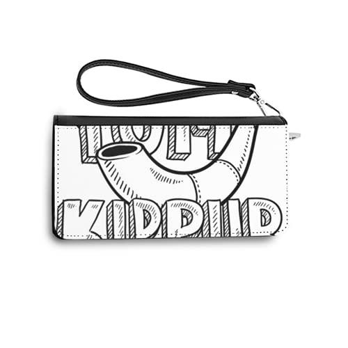 Carteras de Mujer Monedero Largo de Cuero Doodle Style Jewish Holiday yom kippur Icon with Lettering and Shofar Horn Vector formatPU de Moda Cartera con Tarjetero para Mujer Organizar One Size