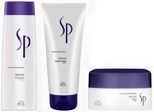 WELLA SP System Professional Repair Trio Shampoo 250ml + Conditioner 200ml + ... by Wella (English Manual)