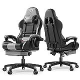Furgle Gaming Chair Racing Style Sedia da ufficio con schienale alto in pelle PU...
