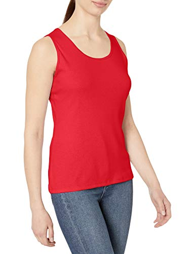 Price comparison product image Hanes Women's Mini-Ribbed Cotton Tank,  red Spark,  X Large