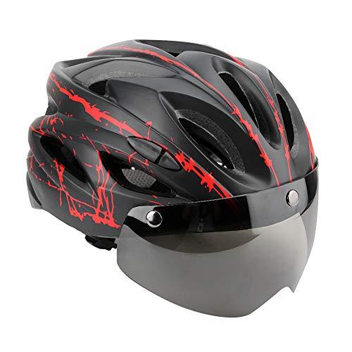 Fahrradhelme, Fahrrad Fahrradhelm Eps Integrierter Schutzhelm Bergstraßensicherheitshelm mit Schutzbrille