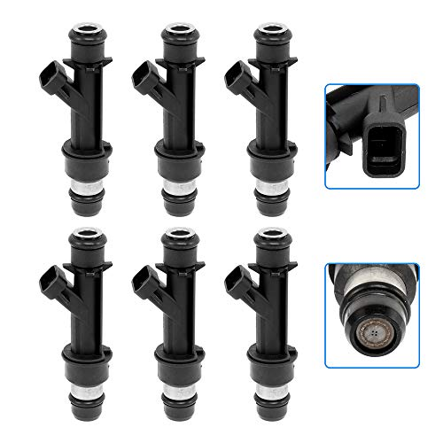 cciyu Injectors 4 Holes Fuel Injector Set fit for 2002 2003 2004 Chevrolet Trailblazer EXT GMC Envoy XL Oldsmobile Bravada,2004 Buick Rainier GMC Envoy XUV Compatible 25313185 Injector,6 Pieces