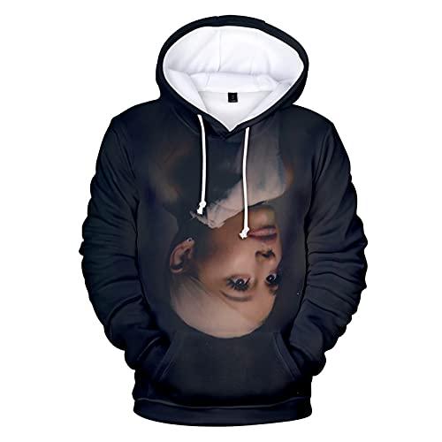 Whittie Ariana Grande Kapuzenpullover Unisex Sweatshirt Damen Casual Kordelzug Langarm Sport Hoodies Sweater,10,XL