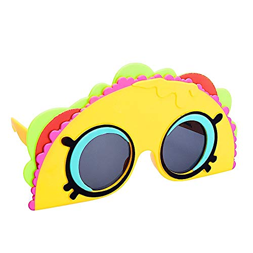 Sun-Staches Officially Licensed Shopkins Taco Terrie Lil' Characters Shades, Costume Party Favor Sunglasses UV400, Multi, Child, Model Number: SG3500