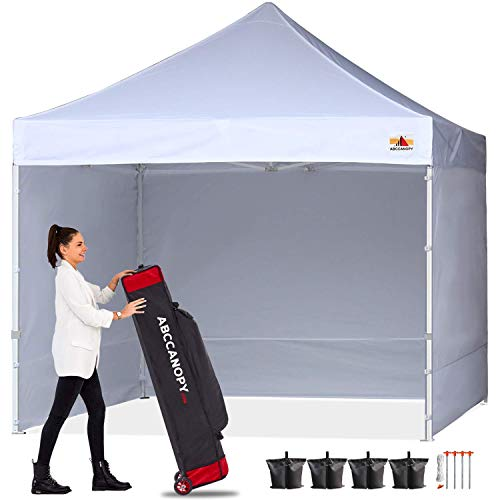 ABCCANOPY Ez Pop Up Canopy Tent with Sidewalls Commercial -Series, White