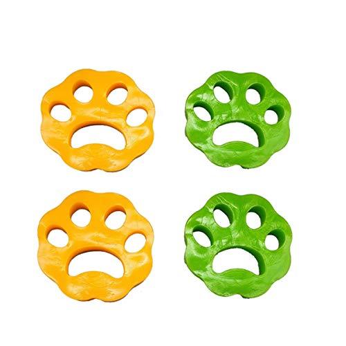 Depiladora de pelo para mascotas, 4 unidades, para el pelo de perros, gatos y todo tipo de mascotas, elimina el pelo de la ropa en lavadoras y secadoras, reutilizable