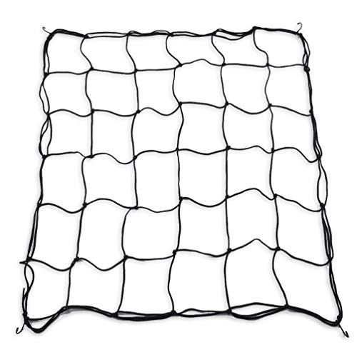 Yugust Filet élastique pour Tente de Culture, Filet de Jardin Noir avec 4 Crochets en Acier pour 4 x 4 et Plus de 36 espaces de Croissance pour Grimper Les Fruits, légumes, Fleurs 36 grids Noir