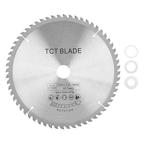 Broco Disco Sierra 254,Carburo circular hoja de sierra TCT disco de corte de metal de plástico de madera 254 30 mm 60 Dientes