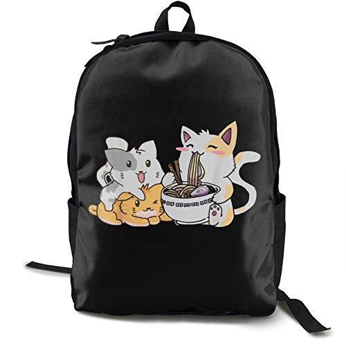 IUBBKI Zwinz Kawaii Neko Ramen Anime Cat Noodles Premium Printed Backpack Lightweight Shoulder Bag