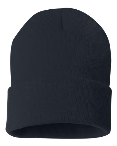 Sportsman 12' Solid Knit Beanie, Navy, One Size