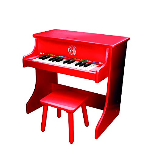 REIG-Piano Vertical de Madera electrónico con banqueta (7094)