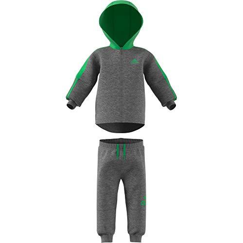 Adidas Unisex Baby Logo Full Zip Hooded Fleece Trainingspak