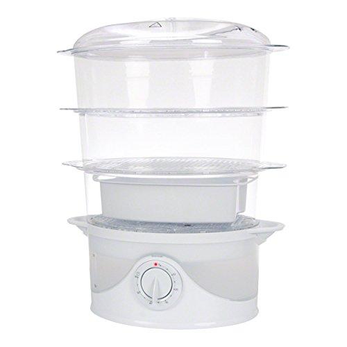 Dampfgargerät für Kräuterstempel mit 3 Behältern, Dampfgarer, Dampfkocher