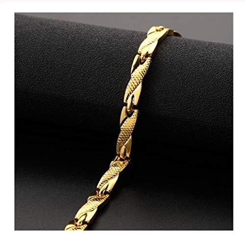 AdorabFruit Jesucristo Trenzado Pulsera for Las Mujeres Poder brazaletes de Las Pulseras de la joyería Inoxidable de los Hombres (Metal Color : Gold)