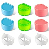 WSERE 6 Pcs False Tooth Denture Box Retainer Case Holder, Leak-proof Dental Teeth Holder Denture Case Bath Cup Storage Box Soak Container with Strainer Basket for Travel Cleaning or Overnight Soaking
