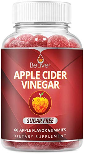 Sugar Free Apple Cider Vinegar Gummies, Healthy for Women, Men, and Kids, Gummy Alternative to Capsules, 60 Ct