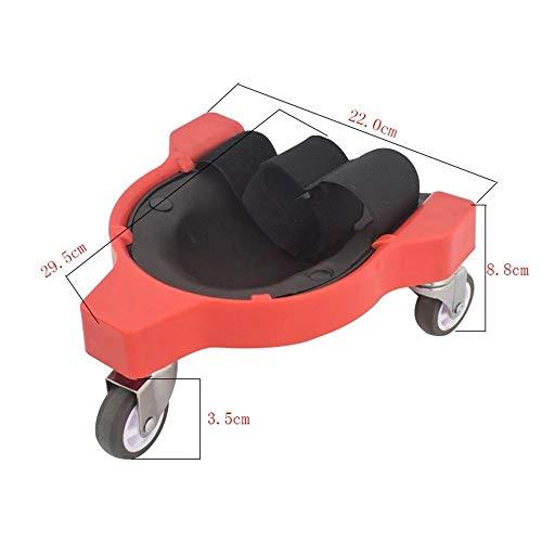 ZDAMN Soporte para Las Rodillas Multi-Funcional rodante Rodilla Protector del cojín de la Rodilla Pad Protección Accesorios de Seguridad (Color : Red, Size : One Size)