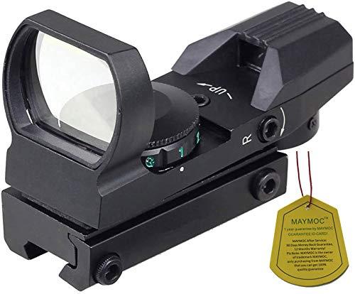 MAYMOC pista di fondo regolabile di 11mm Laser Sight Multi reticolo 4 Red Dot Sight Scope Mount a coda di rondine caccia e Outdoor fotocamera accessori