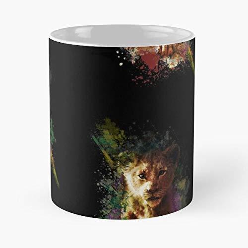 Desconocido King Lion Nala Mufasa Pumba Simba Timon Movies 2019 Taza de café con Leche 11 oz