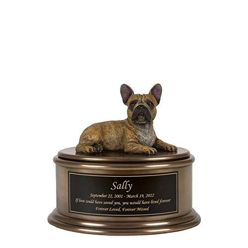 Perfect Memorials Custom Engraved French Bulldog Figurine Cremation Urn