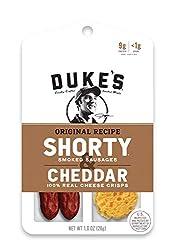 Duke's Original Recipe SHORTY Smoked Sausages & Cheddar Cheese Crisps, 1 Ounce