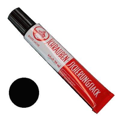 Schraubensicherungslack 20 ml. in Tube schwarz - Sicherungslack - Schraubenkleber
