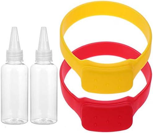 Abaodam 2 Set Hand Sanitizer Armband Siliconen Hervulbare Polsband Wearable Dispenser