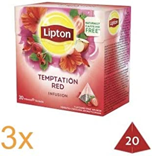Lipton Temptation Red Infusion Strawberry & Raspberry (Pack of 3)
