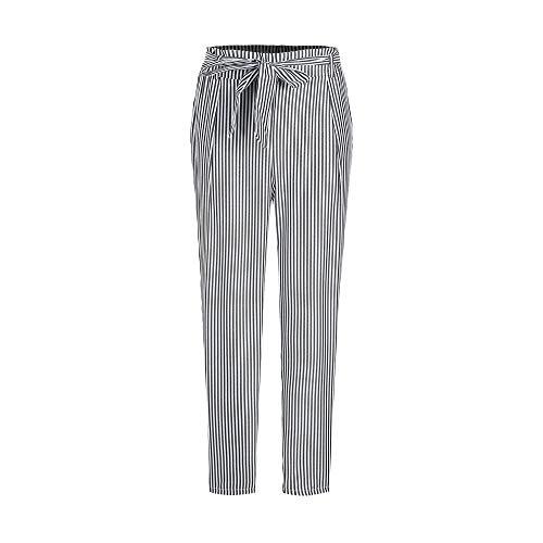 Chino broek dames stoffen broek lente verticale mode elegante strepen met modieuze completi riem bowknot voorzakken zoom taille slim fit lange vrijetijdsbroek trendy comfortabele broek
