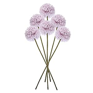 BESPORTBLE 6PCS Artificial Chrysanthemum Ball Flowers Silk Hydrangea Bridal Wedding Bouquet for Christmas Home Party Wedding Decor (Pink)