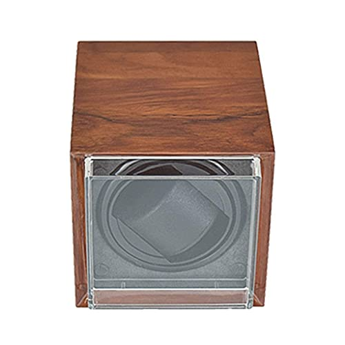 Caja enrolladora de Reloj automática de Madera, Caja de bobinado silencioso, 5 Modos de roating con Almohada para Reloj, Adaptador de CA o batería (Color: 1 + 0)