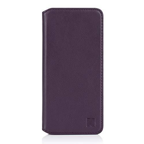 32nd Klassische Series 2.0 - Lederhülle Case Cover für OnePlus 7T Pro, Echtleder Hülle Entwurf gemacht Mit Kartensteckplatz, Magnetisch und Standfuß - Aubergine