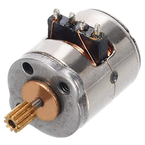 Argerrant 1Pcs Mini Micro Stepper Motor Kleine 2-Phasen-4-Leiter-Schrittmotor mit Kupfer-Zahnrad for Digital-Produkte Kamera 8x9.2mm