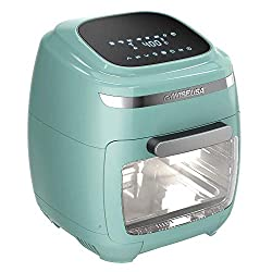 Image of GoWISE USA GW77723 11.6-Quart Air Fryer Toaster Oven with Rotisserie & Dehydrator + 50 Recipes, Vibe Mint: Bestviewsreviews