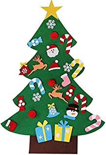 comprar comparacion MILIER Árbol de Navidad, DIY Fieltro Árbol de Navidad Decoración del Hogar, Eco Friendly 3D Árbol de Navidad Niños