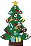 MILIER Albero di Natale,Decorazione della Casa Dell'Albero di Natale in Feltro Fai-da-Te, Regali di Natale Dell'albero di Natale 3D Ecologici per I Bambini