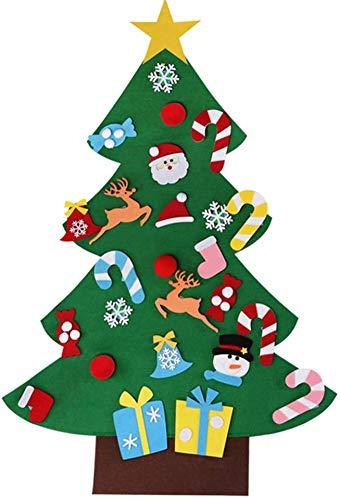 MILIER Weihnachtsbaum, DIY Filz Weihnachtsbaum Inneneinrichtung, Umweltfreundliche Weihnachtsbaum 3D für Kinder