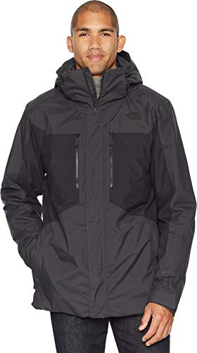 The North Face Men's Clement Triclimate Jacket - Asphalt Grey & TNF Black - S