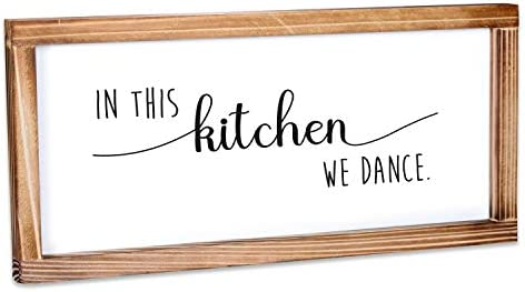 MAINEVENT in This Kitchen We Dance Sign Funny Kitchen Sign Farmhouse Kitchen Decor Kitchen Wall product image