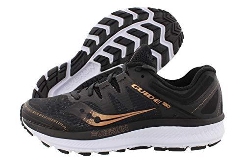 Saucony Women's Guide ISO Running Shoe, Black/Denim, 10.5 Medium US