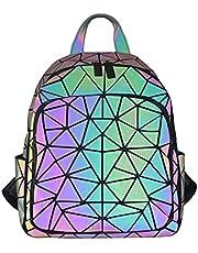 Zaino Olografico Geometrico Per Donna Zaino Riflettente Che Cambia Colore Zaino Luminoso Da Viaggio Zaino Da Viaggio Borsa Da Viaggio Cartella