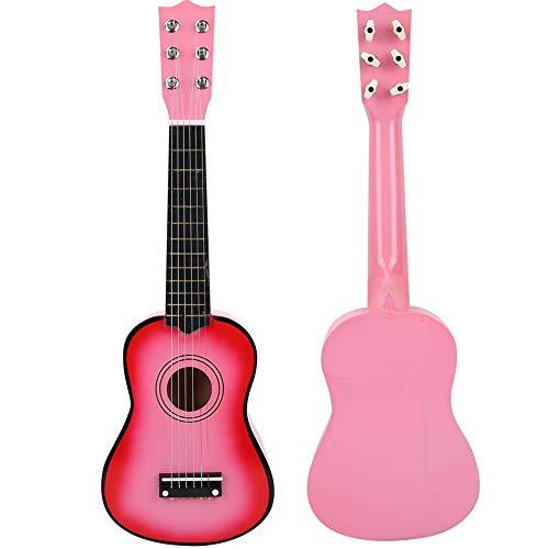 Juguetes educativos, Guitarra para niños, Juguetes livianos para niños, para Cultivar relaciones Los niños para niños atraen Intereses(Pink)