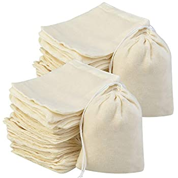 200Pcs Cotton Drawstring Bags Reusable Muslin Bag Natural Cotton Bags with Drawstring Produce Bags Bulk Gift Bag Jewelry Pouch for Party Wedding Home Storage Natural Color  4 x 3 Inches