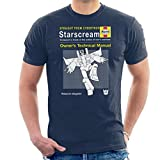 Cloud City 7 Starscream Haynes Manual Transformers Men's - Camiseta Azul Marino L