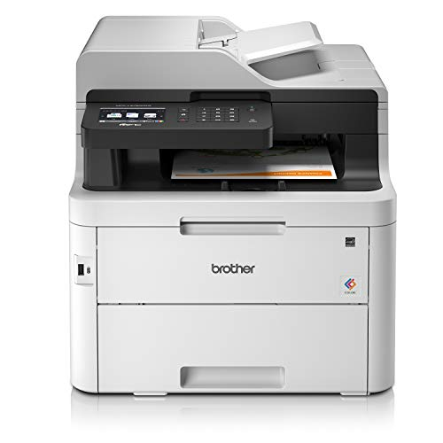 Brother MFCL3750CDW Stampante Multifunzione a Colori LED, FAX, 24 ppm, Stampa Fronte/Retro Automatica, Rete Cablata, Wi-Fi, USB 2.0 Hi-Speed, USB Host, ADF 50 Fogli, Touchscreen, Toner 1000 Pagine