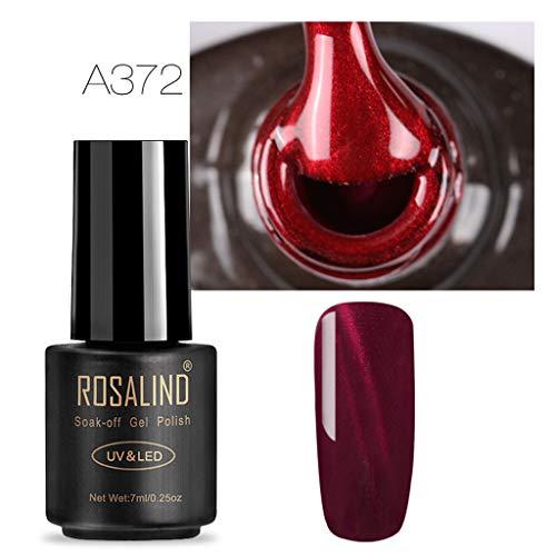 Nail Oil , Burgundy 3D Cat Eye Polish Gel Gradient Starry Soak Art Nail Uv Polish , Red Line Cat Eye Nail Polish