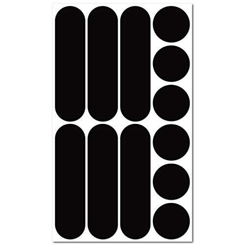 B REFLECTIVE, 12 Stück Kit universal Retro reflektierende Aufkleber, Nacht Sicherheit Signalisierung Klebeband Reflektor, für Fahrrad/Kinderwagen/Motorradhelme/Motorrad/Spielzeug, Schwarz